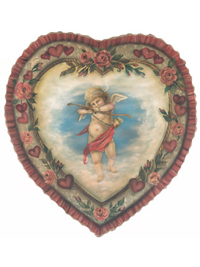 Valentine Heart - A Boardwalk Orignals by Bonnie Barrett Valentine display and decoration from  Cottages and Gardens