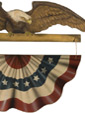 American Eagle Banner  - A Patriotic Decoration & Display from Cottages and Gardens