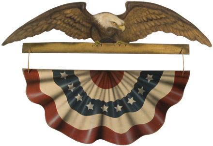 Amerian Eagle Banner - A Patriotic Decoration & Display from Cottages and Gardens