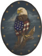 American Eagle Oval - A Patriotic Decoration & Display from Cottages and Gardens