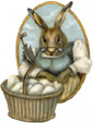 Beatrice Bunny - An Easter Decoration & Rabbit Display from Cottages and Gardens / Boardwalk Originals