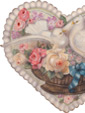 Heart With Flowers & Doves - A Valentine's Decoration & Display from Cottages and Gardens