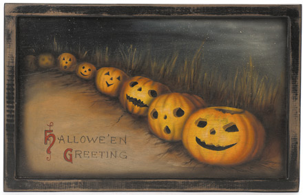 Jack O' Lantern Painting - A Halloween Decoration & Display from Cottages and Gardens