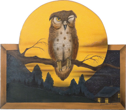 Owl Screen - A Halloween Decoration & Display from Cottages and Gardens