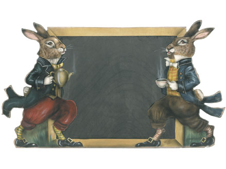 Rabbit Chalkboard - An Easter Decoration & Rabbit Chalkboard Display from Boardwalk Originals from Cottages and Gardens