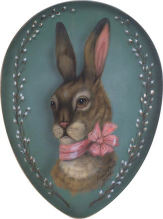Rabbit With Bow Egg - An Easter Decoration & Display from Cottages and Gardens