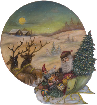 Santa Sleigh Disk - A Christmas Decoration & Display from Cottages and Gardens