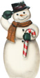 Snowman With Candy Cane - A Christmas Decoration & Display from Cottages and Gardens