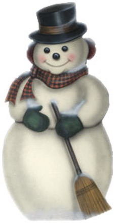 Snowman With Plaid Scarf -  A Christmas Decoration & Display from Cottages and Gardens