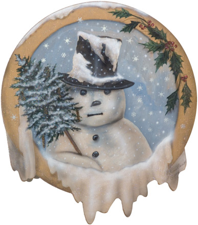 Snowman With Top Hat Disk - A Christmas Decoration & Display from Cottages and Gardens