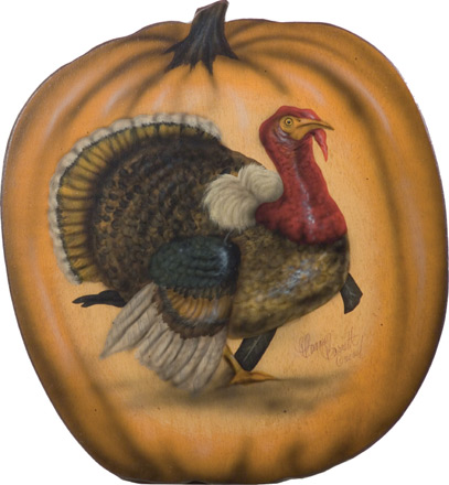 Turkey In Pumpkin - A Halloween & Thanksgiving Decoration & Display from Cottages and Gardens