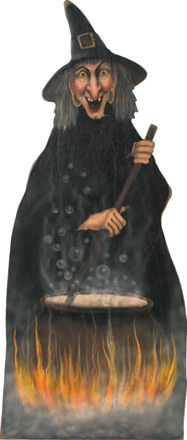 Witch With Cauldron - A Halloween Decoration & Display from Cottages and Gardens