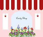 The Candy Shop at Cottages and Gardens - Candy Shop Logo