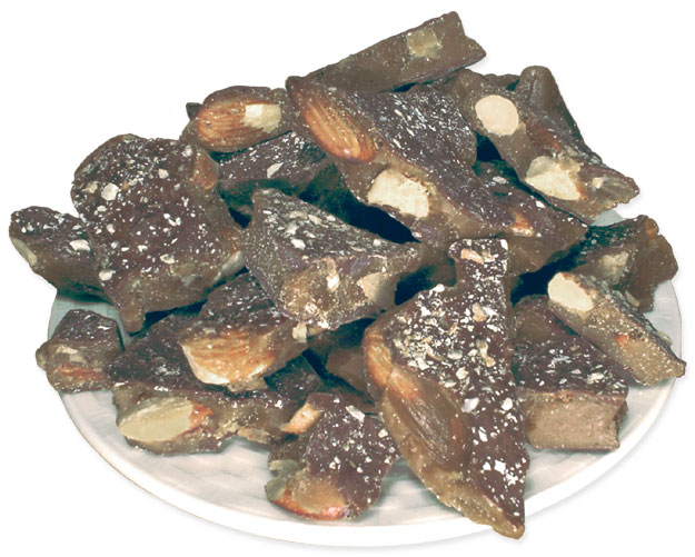 The CottageKeeper's Toffee - Roasted Almond Chocolate Toffee from The Candy Shop at Cottages and Gardens