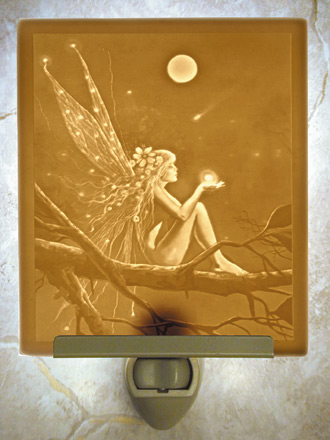 Catch A Falling Star Night Light - A  Porcelain Lithophane Night Light from The Porcelain Garden