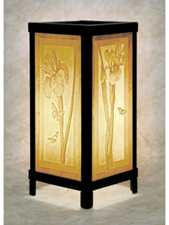 iris luminaire a porcelain lithophane luminaire from the. Black Bedroom Furniture Sets. Home Design Ideas