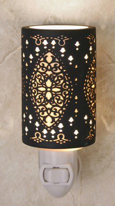 Seville Silhouette Night Light - A 360 Degrees Etched Translucent Porcelain Lithophane Night Light from Cottages and Gardens / The Porcelain Garden
