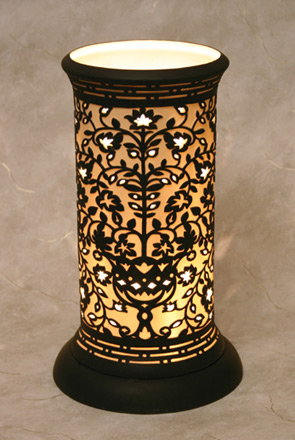 Venice Silhouette Table Lamp - An Etched Translucent Porcelain Lithophane Table Lamp from Cottages and Gardens / The Porcelain Garden