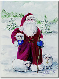 Shepherd Santa - A Romantic Giclee Print by Mary Kay Crowley